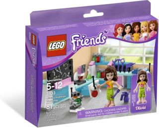 Lego Friends 3933 Olivias Invention Workshop NIB Great Find