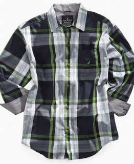 Nautica Kids Shirt, Boys Highlight Plaid Shirt