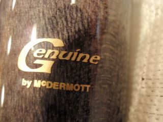 Genuine McDermott Two Piece Pool Cue and Case