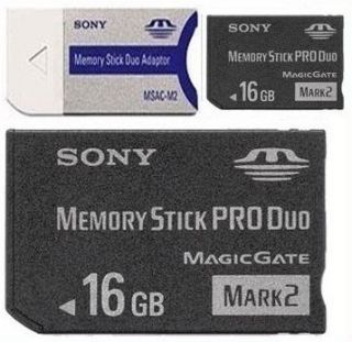 the 16gb memory stick pro duo media gives you maximum storage for hd