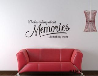 Memories Removable Wall Quote Decal Mural DIY Vinyl Art Sticker Home