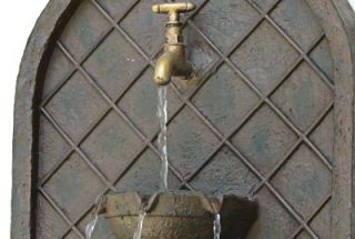Messina Outdoor Wall Water Fountain Water Feature Garden Decor