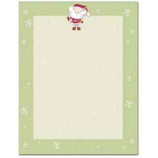 Merry Christmas Santa Claus with Snow Flakes Holiday Paper Letterhead