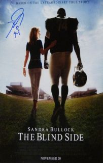 Michael Oher Autographed Signed The Blind Side Movie Poster
