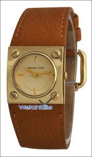 Michael Kors Brown Leather Strap Womens Watch MK2203