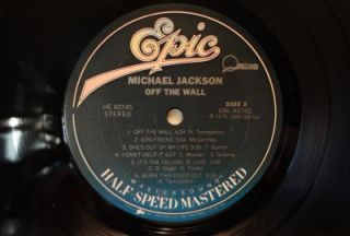 Michael Jackson Off The Wall Half Speed Epic Audiophile Pressing Mint