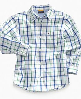 Tommy Hilfiger Kids Shirt, Little Boys Chase Plaid Shirt