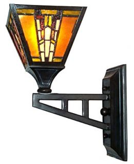 Dale Tiffany Lighting, Amber Monarch Wall Mount
