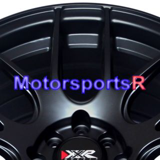 15 15x8 XXR 530 Flat Black Wheels Rims Concave 4x100 84 85 86 87 88 91