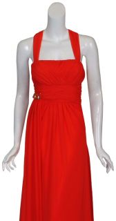 Mikael Aghal Dazzling Red Twist Long Gown Dress 6 New