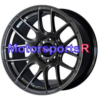 XXR 530 Chromium Black Concave Rims Wheels Stance 4x100 Honda Civic SI