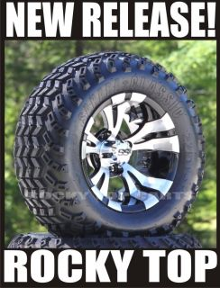 New Golf Cart 12 Aluminum Wheels and All Terrain Tires