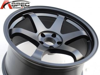 TEK UO07 MATT BLACK WHEEL FITS NISSAN 350Z 370Z 2002 2012 5X114.3 RIMS
