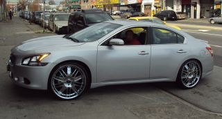 Dvinci Spruz 22 Chrome Rims Wheels Lexus LS430 Staggered