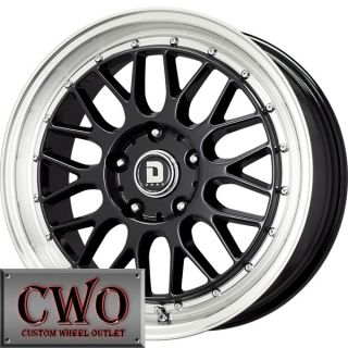 17 Black Drag Dr 45 Wheels Rims 5x112 5 Lug Mercedes Audi A4 A6 Passat
