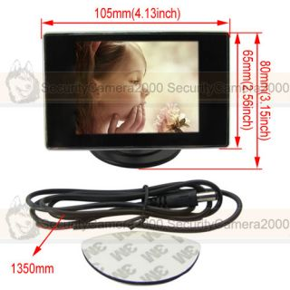 Mini 3 5 TFT LCD Monitor Display for CCTV Car Rear View Camera System