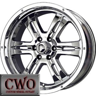 20 Chrome Gunner 6 Wheels Rims 6x139 7 6 Lug Titan Tundra GMC Chevy