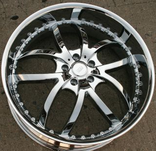 Bigg Style 406 22 Chrome Rims Wheels Cadillac cts STS DTS GM 22 x 8 5