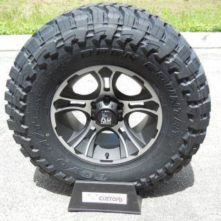 17 Black XD Crank Wheels 33 Toyo MT Tires Chevy GMC Sierra Dodge RAM