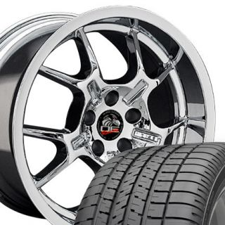 10 Chrome GT4 Style Wheels Goodyear F1 Tires Rims Fit Mustang® 05 Up