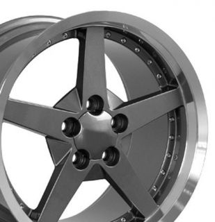 10 5 Gunmetal C6 Deep Dish Wheels Rims Fit Camaro Corvette