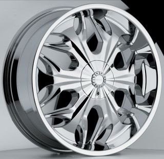 20 inch Akuza Reaper Chrome Wheels Rims 5x5 5 5x139 7