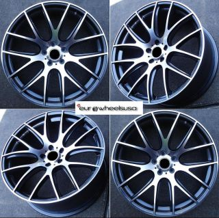 22 Monza Wheels Set for BMW E70 E71 x5 x6 Rims New Set of 4 with Caps