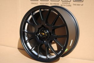 17 KZ I Matte Black Wheels Rims Toyota Corolla Celica Scion FRS TC XD