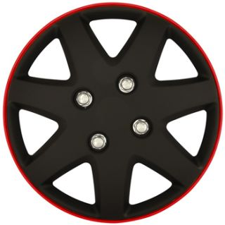 New Car 13 Matt Black Red Rim Michigan Wheel Trims Hub Caps Full Set