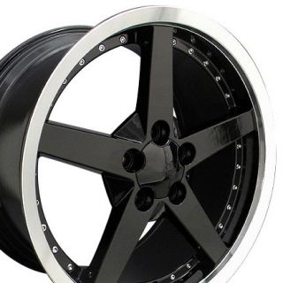 19 Rims Fit Corvette C6 Deep Dish Black Wheel 19x10