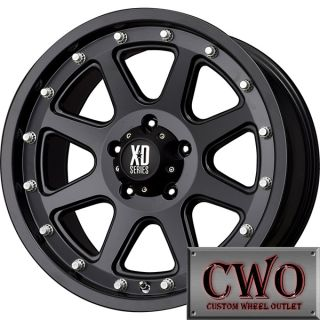 17 Black XD Series Addict Wheels Rims 5x127 5 Lug Jeep Wrangler Chevy