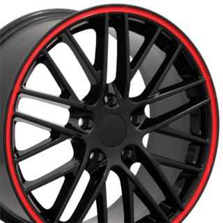 17 Corvette C6 ZR1 Black Red Line Wheel Rim Fits Chevrolet Camaro SS