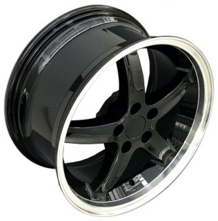18 Black Cobra Style Deep Dish Wheels Rims Fit Mustang® GT Set