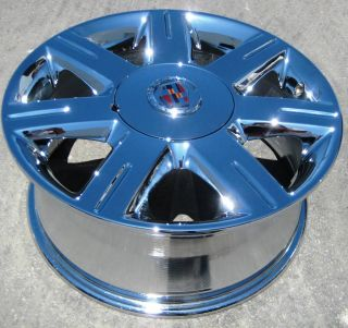 STOCK  17 FACTORY GM CADILLAC DEVILLE DTS CTS OEM CHROME WHEELS RIMS