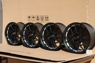 16 Matt Black w Machine Lip Wheels 4x114 3 Rim Integra Golf Jetta XB