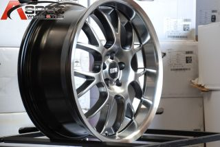 STR 604 WHEEL 18X8.0 5X100 +40 HYPER BLACK RIM FIT AUDI TT VW JETTA