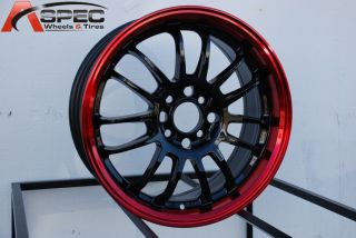Rota SVN 16x7 5x114 3 40 Black Red Lip Rims Wheels