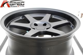 18 Varrstoen ES221 5x114 3 Black Wheel Fit Eclipse galant Lancer