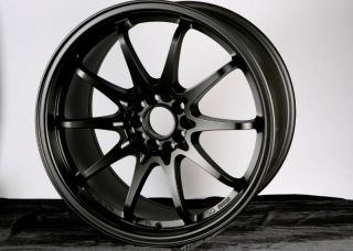 18X9.5 VARRSTOEN ES331 MATT BLACK 5X100 +34 WHEEL FIT SCION FR S TC