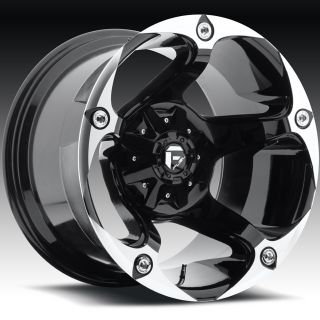 17x9 Black Fuel Havok Wheels 5x5.5 5x150  12 Lifted TOYOTA TUNDRA LAND