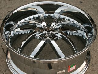 Bigg Style 406 24 Chrome Rims Wheels Chrysler 300 300C V6 V8 24 x 9 5