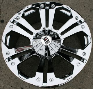 XD SERIES MONSTER 778 24 CHROME RIMS WHEELS FORD F 350 F350 8H 98 up