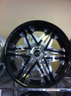 24 Dakar Imperial Wheels Black Chrome Rims Toyota