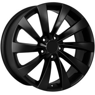 Turbine Style MATTE BLACK Wheels Rims Fit VW JETTA (MKV MKVI) CC Eos