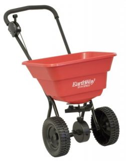 Deluxe 80 lb Broadcast Spreader Lawn Fertilizer Salt 10 Wheels
