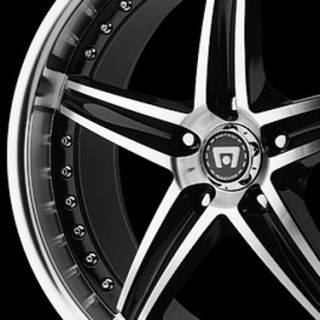 16 x 7 Motegi Racing MR107 107 Black Wheels Rims 5 Lug 5x4 5 5x110