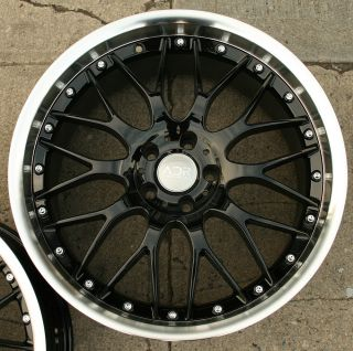 CLASSIC 20 BLACK RIMS WHEELS INFINITI G35 COUPE / 20 X 8.5/9.5 5H +20