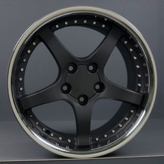 10 5 Black Corvette C5 Style Deep Dish Wheels Rims Fit Camaro
