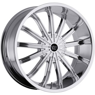 22x9 5 Chrome Wheel Vision Xtacy 456 rwd 5x115 5x5 5