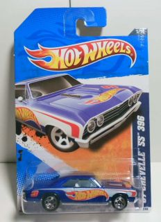 HOT WHEELS 2011 #151 HW RACING 67 CHEVELLE 55 396 BLUE W/ 5SPS